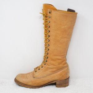 Shoes - Vintage Lace Up Vegan Campus Moto Boots Size 8.5